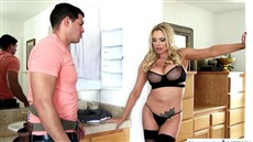 sex with blonde in stockings. porn videos with briana banks, tony martinez