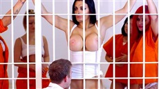 the guard made from behind bars busty prisoner and fucked a chick
