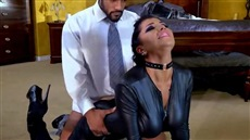 the men tied up the masseuse and fucked beauty in all holes