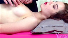 vaginal massager brings to orgasm cute young fucking