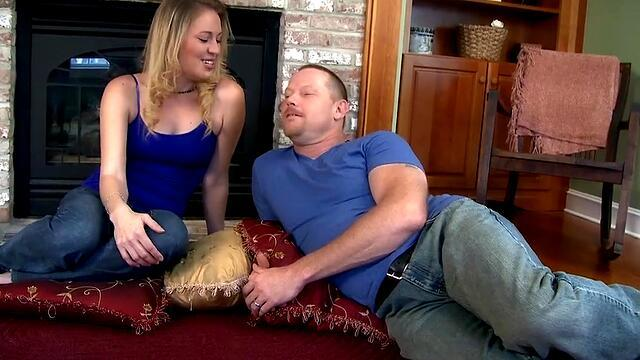 jill kassidy jumping on a guy's cock and moans from sex in the pussy.