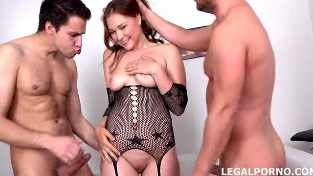milf on set with double penetration for chick