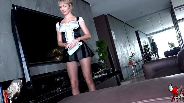 slut with big tits has sex in the car and moans.