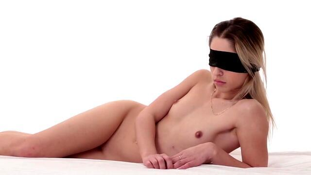 the girl in the frame gets an orgasm from masturbating pussy with a vibrator